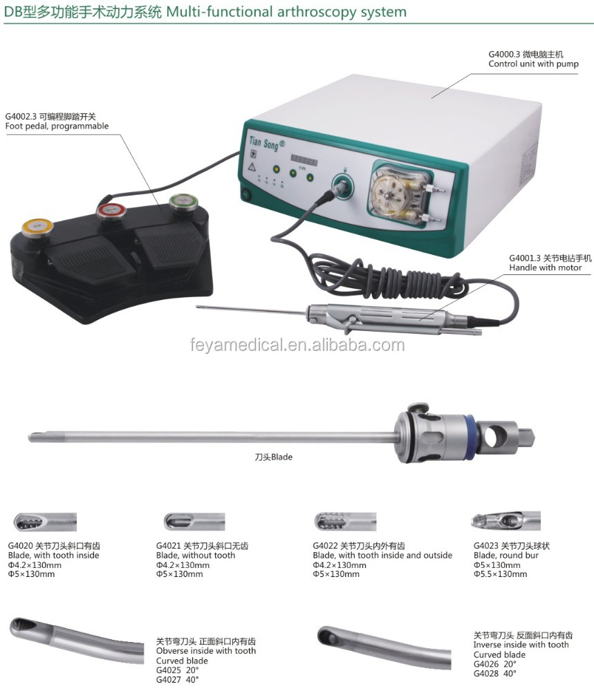 Orthopedic Surgical Instrument Multifunctional Arthroscopy Shaver System