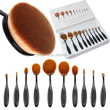 10pcs Beauty Toothbrush Shaped Foundation Power Cream Puff Oval Makeup Brushes