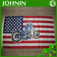 advertising promotional transfer printing world market suppliers USA motorcycle promotional flag