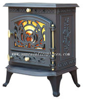 cast iron solid fuel wood & coal burning stove