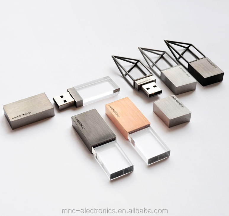 New creative design metal material personalised laser engraving brand logo geometric shape 4GB usb flash memory stick