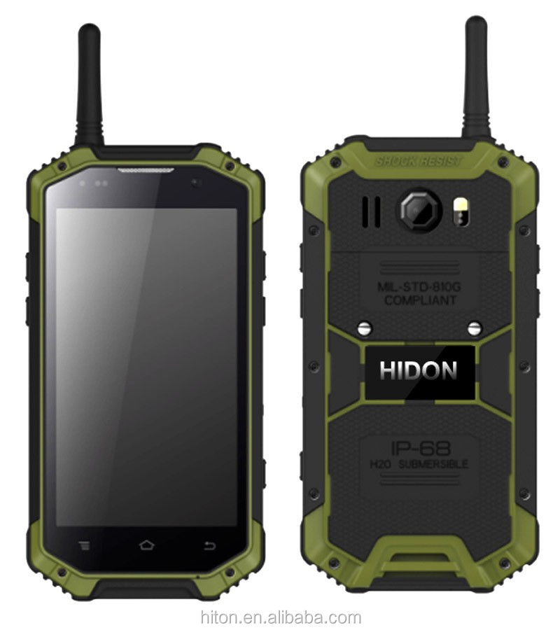 2016 New Listing IP68 Rugged Smart Mobile Phone with Quad Core Android 4.4 walkie talkie
