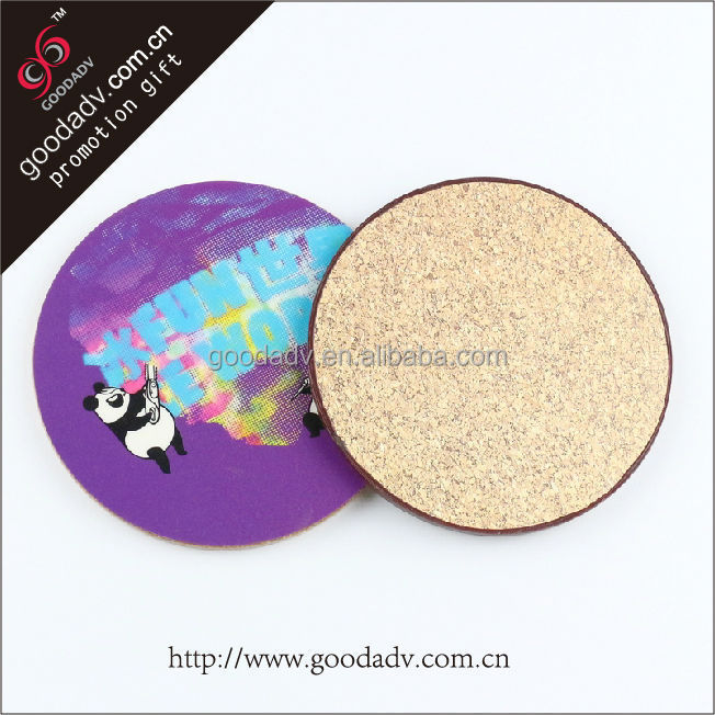 Guangzhou plant hot sales non-toxic environmental personalized fiberboard cup mat
