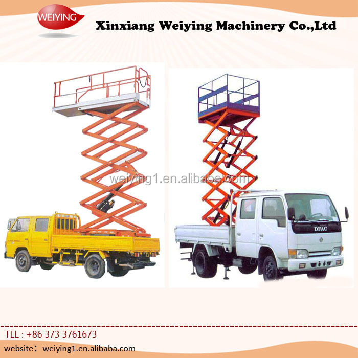 truck mounted elevated aerial work platform