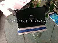 High quality special book type leather case for mini ipad