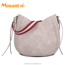 MINANDIO uk brand handbag zippers closure leather handbag with straps