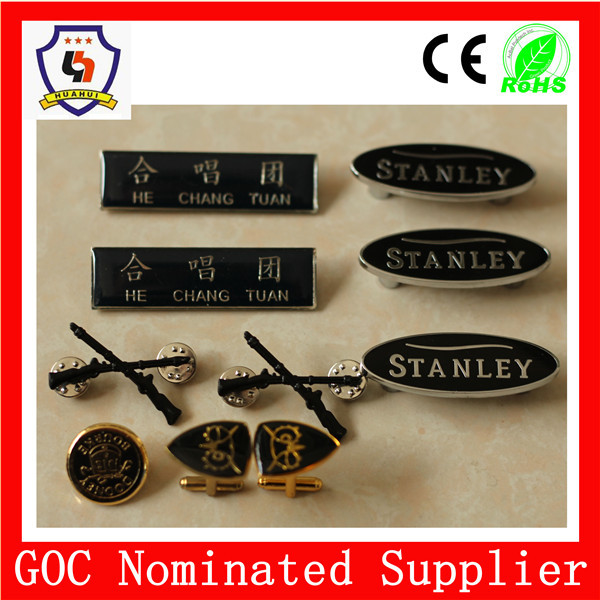 military badge factory direct sale custom logo and size Free samples and design metal pin badge (HH-badges529)
