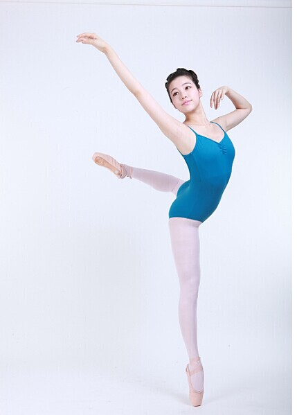 D031011 Dttrol sexy girls ballet leotard camisole with pinch front and low back