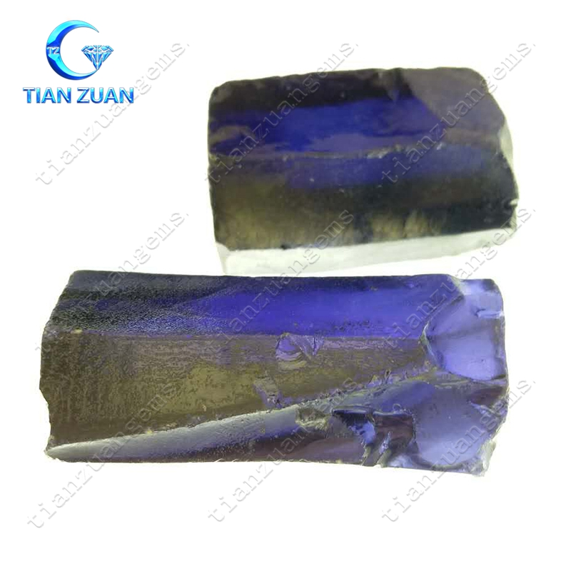 hot sale tanzanite color zirconia raw rough material in best wholesale price