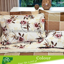 Flower design printed pillow case