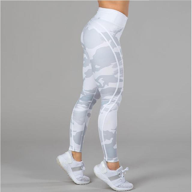 Women camouflage sportswear printed yoga leggings track pants