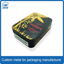 New design cigarette case tin packaging fashion tobacco gift tin box