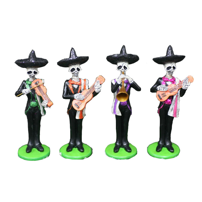 4 pieces Polyresin Halloween Skeleton Party Decoration