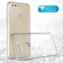 Amazon 2017 New Trendy Ultra Clear Crystal Acrylic Hard Back Phone Case for Huawei Honor 8 with Antishock TPU Bumpers
