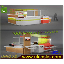 High-end Frozen yogurt kiosk,ice cream kiosk for sale, juice car counter with attractive design