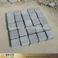 dark grey paving cubic granite stone
