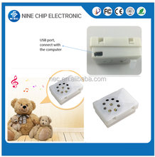 mp3 programmable usb sound module for stuffed sound box and plush toys
