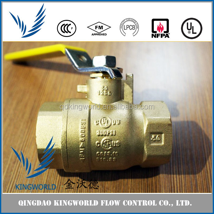 Widely Used Brass Bronze Small Ball Valve for Water Meter