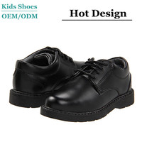 Little gentlemen's black business style casual shoes kids boys back to school shoes action leather school shoes