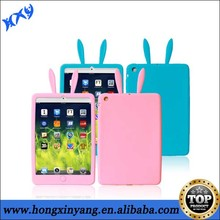 Animal Silicon Rabbit Ears Shaped Case For Ipad mini.