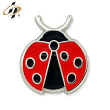 Promotional gift custom metal animal Lady Bug clutch Pin