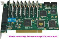 telephone recording system: 8ch phone recording + 8ch Voice mail, phone answering, SDK