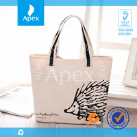 Wholesale printed cotton promotional shopping bags