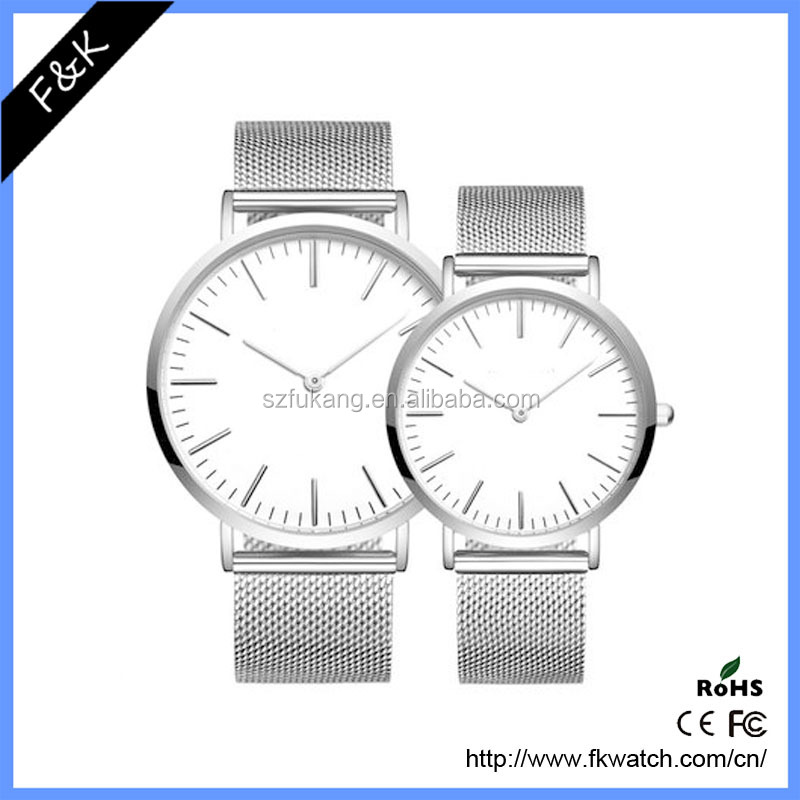 Cheap custom logo mesh band watch