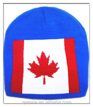 winter country flag hat national flag hat for winter canada maple flag hat