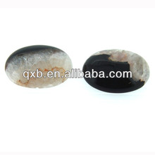 oval raw agate with quartz cabochon gemstone wholesale