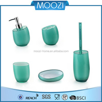 Fancy 5pcs Set Green Plastic Bathroom