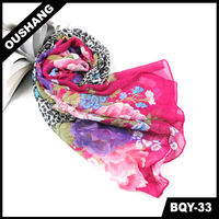 BQY-33 New Arrived Printed Fashion Summer Scarf 2013