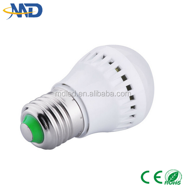3w led plastic bulb 90-277V or DC12V solar led bulb e27 mosquito repellent light bulb