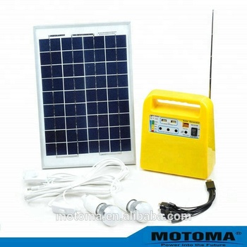 home use solar light kit with USB socket 10W-150W portable solar lighting