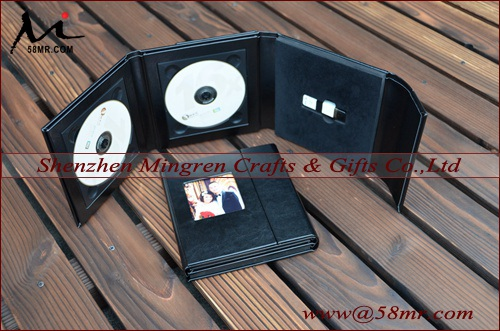 Wedding Leather Fabric Linen DVD CD USB Case