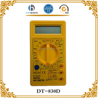 DT 830D LCD Digital Multimeter Battery Leads Electric