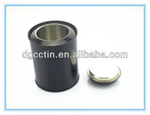 CH OEM black round aluminum tea tins wholesale