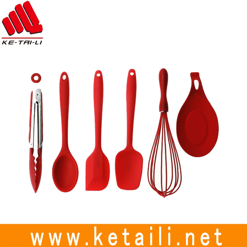 High quality silicone cooking spatula set with OEM design