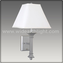 CUL&UL Approved Painted Silver Color Single Hotel Bedside Wall Lamp For Bedroom W20192