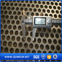 stainless steel square hole metal perforated sheet