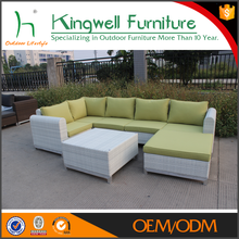 Outdoor used promotion cane sofa garden sofa with high quality