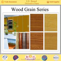 Top Manufacturer Wood grain ash furniture paper for decoration wholesale