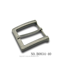 40mm burnish nickel plated matte oil coated flat pin buckle for men's for casual belt