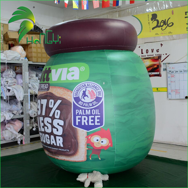 Custom Plastic PVC Large Inflatable Can, Inflatable Bottle Model For Outdoor Advertising