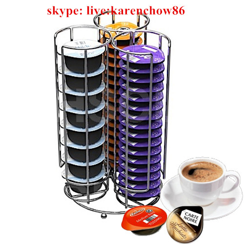 Chrome Wire Tassimo Storage Holder, Hods 30 Tassimo Pods