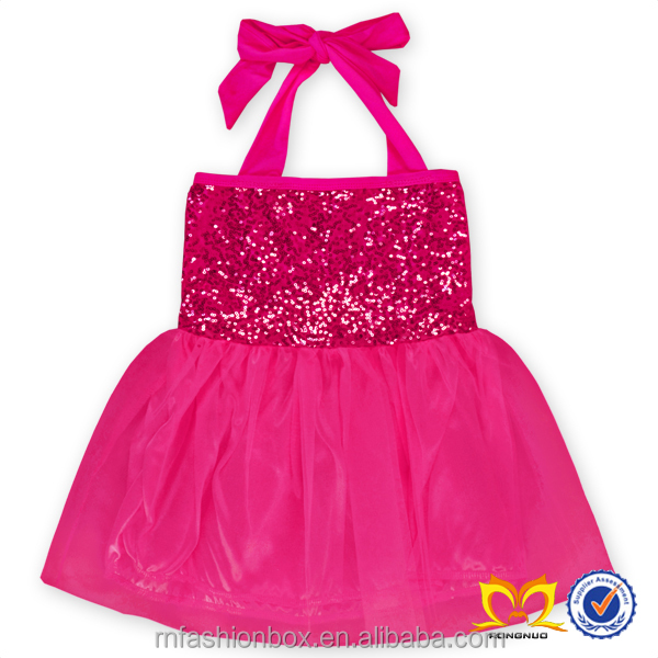 Cheap Kids Birthday Summer Dresses One Piece Girls Pageant Dresses European Baby Boutique Clothing