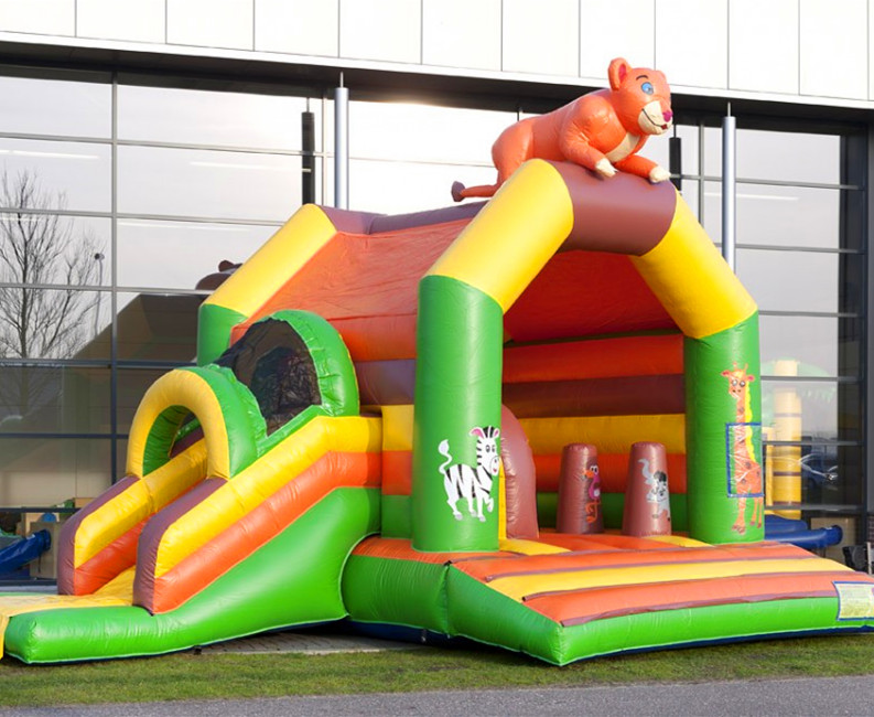2015 new design inflatable bear combo bouncy slide for sale