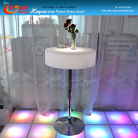 wholesale unique bar table furniture, light up led bar table