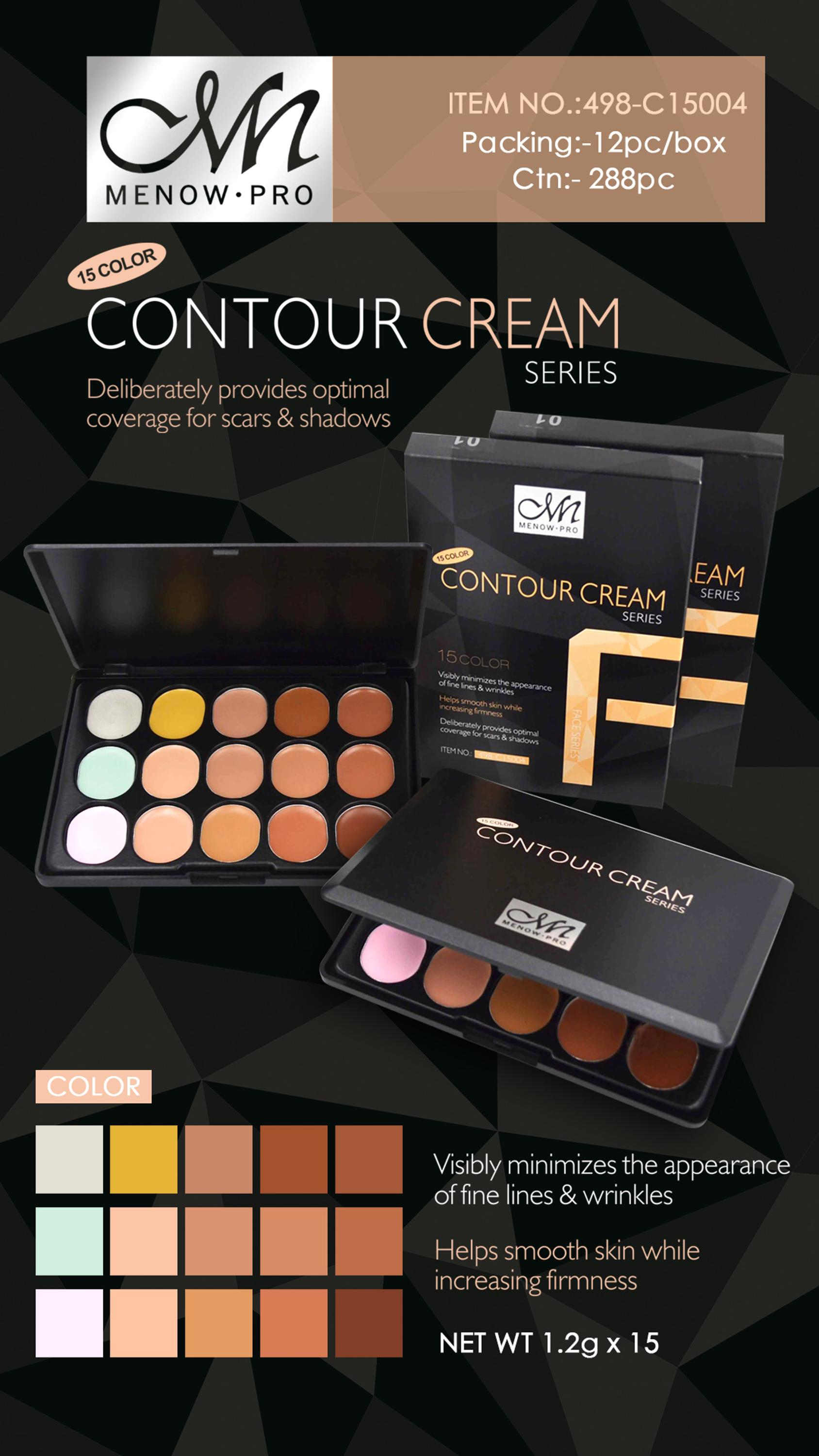 Menow C15004 15 colors Contour Cream Face Makeup Concealer Palette