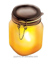 Wholesale Solar Powered Sun Jar 1PC 2v/60mA Multi Crystal +1pc supper brightness Yellow LED For Outdoor